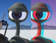 Crazy Snail 2D/3D anaglyph animation